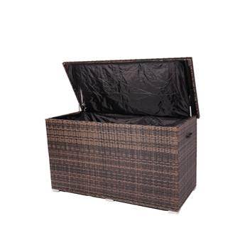 Direct Wicker Wicker Patio Storage Box (Brown & Gray)