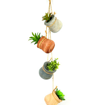 Direct Wicker Artificial Succulents set of 4 mini Realistic Fake Plants with Wood Box
