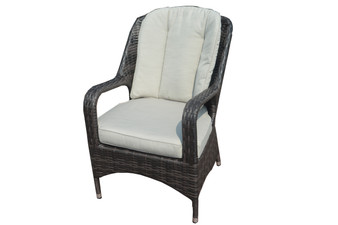 【REPLACEMENT】 Polyester Beige/Gray Seat and Back Cushions for PAC-009 Chair