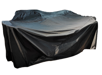 L. 124'' X W. 90'' X H. 37'' Outdoor Black Rain Cover For PAG-1106-Rectangle Sets