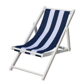 populus wood sling chair blue Stripe Broad blue Stripe