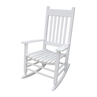 wooden porch rocker chair WHITE