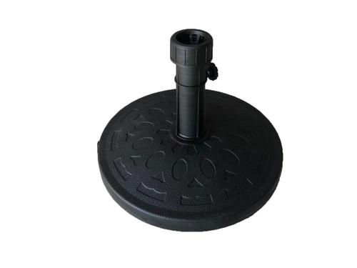 Vintage Pattern Plastic Round  Patio Umbrella Base in Black