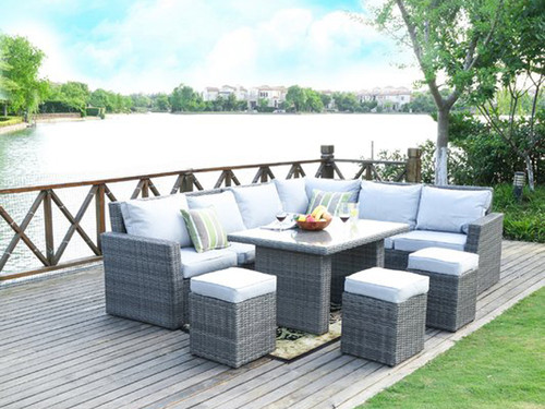 Direct Wicker Ivy 8 Piece Deep Seating Group with Cushion