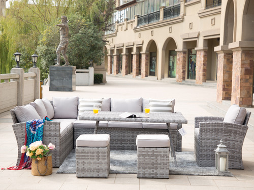 Direct Wicker 6 Piece Rattan Conversation Set with Cushions