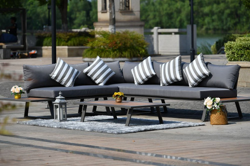 Sandhill 4-Piece Outdoor Sofa Sectional Set, Seats 6