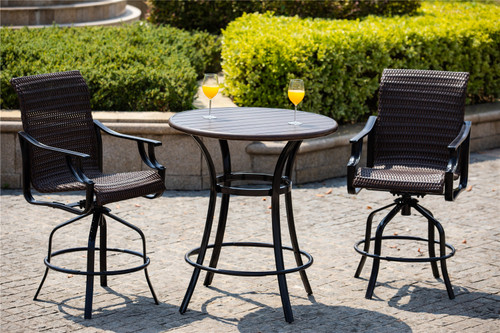 Outdoor 3-piece Bistro Set by direct wicker