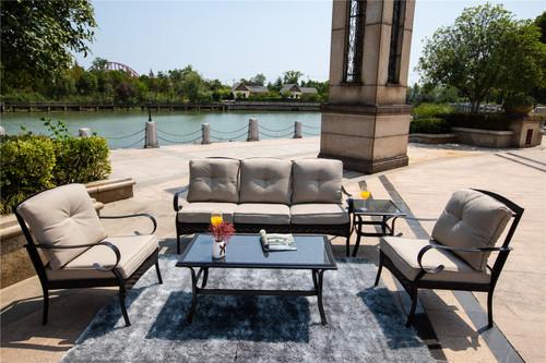 5-piece Outdoor Living Iron Patio Set