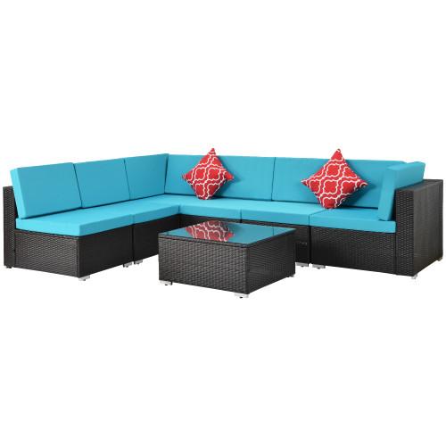 Rattan sofa 7pcs
