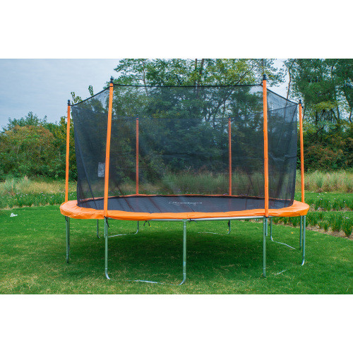 14 Ft Trampoline with Enclosure Net Outdoor Fitness Trampoline PVC Spring Cover Padding for Children and Adults