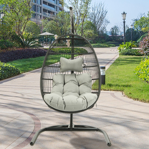 Single seat hang swing chair