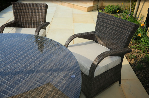 2 piece Chairs  for  7 Piece Dining Set with Cushions