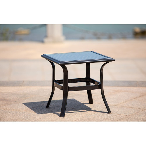 Patio Iron Side Table,Perfect for Balcony, Deck