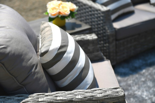 A set cushions covers for 5-Piece Outdoor Wicker Patio Sofa Set