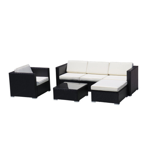 4-Piece Outdoor Sectional Sofa Set