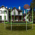 10FT Trampoline with Basketball Hoop Inflator and Ladder in Green