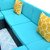 Outdoor Furniture 7 Pcs Sets,PE Rattan Morden Wicker sectional with 2 Pillows, Assembly Required,Backyard,Pool