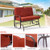 Garden Love seat , Outdoor Swing Glider Rocking Chair ,Patio Bench for 2 Person, Double Sofa, Patio Steel Frame Chair Set with Cushion, Red