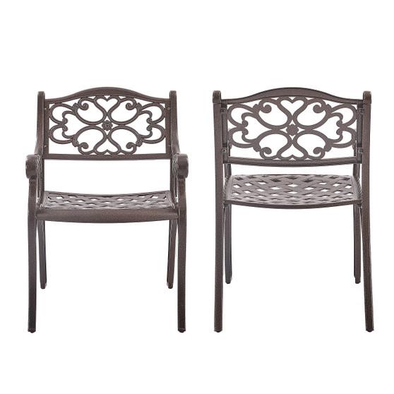 2-Piece Upland Elizabeth Cast Aluminum Chair-B Type