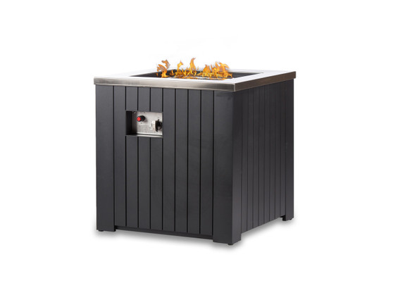 """24"""" Square Chat Fire Pit Table"""