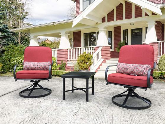 Direct Wicker 3 Piece Outdoor Conversation Furniture Chair Set for Yard Porch