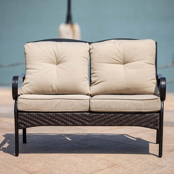 The Elton Collection Garden Relaxation Love Seat Modern Style