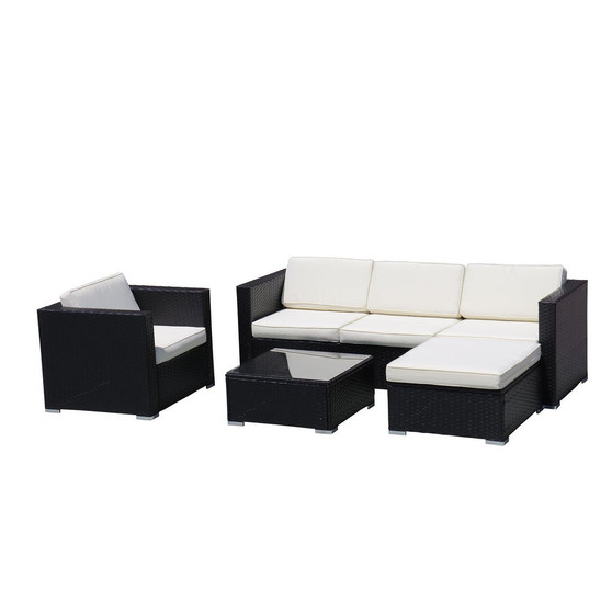 4-Piece Outdoor Sectional Sofa Set