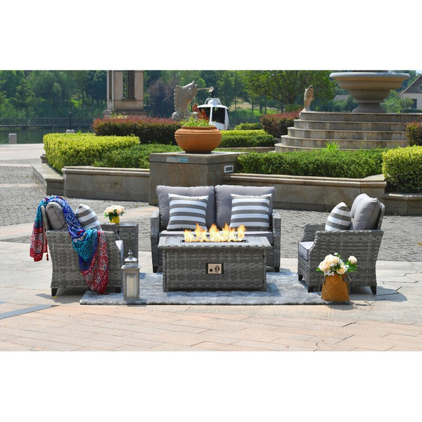 5 Piece Sofa Seating Group with Cushions