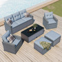 6-Piece Wicker Patio Conversation Sectional Seating Set