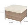 Brown 7-Piece Wicker Patio Conversation Set with Beige Cushions