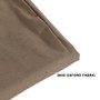 Large Beige Round Patio Swing Chair Double Seat Cover