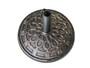 Resin Round Patio Umbrella Base in Bronze