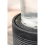 Black Polyresin Outdoor Cascade Fountain with Glass Cylinder