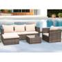 4 piece patio wicker sofa set