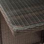 9 Piece Rattan Conversation Set with Cushions, Patio Rattan Dining Set