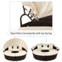 Patio Furniture Round Outdoor Sectional Sofa Set Rattan Daybed Sunbed with Retractable Canopy, Separate Seating and Removable Cushion (Beige)