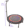 trampoline 40 Inch Mini Exercise Trampoline for Adults or Kids - Indoor Fitness Rebounder Trampoline with Safety Pad | Max. Load 300LBS