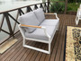 5-Piece Iron Outdoor Sofa with Cushions