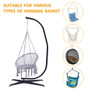 Hammock Chair Stand Only - Metal C-Stand for Hanging Hammock Chair,Porch Swing - Indoor or Outdoor Use - Durable 300 Pound Capacity,Black