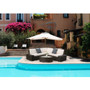 6 PCs Outdoor Patio PE Rattan Wicker Sofa Sectional Furniture brown rattan with beige cushion