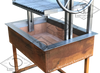 Corten and stainless bbq grill