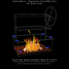 """36"""" x 24"""" STAINLESS DELUXE Drop In Firebox - Santa Maria Grill- Argentine Style - Height Adjustable Rotisserie/Gas Assist"""
