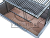 """48"""" x 24"""" STAINLESS DELUXE Drop In Firebox - Santa Maria Grill- Argentine Style - Height Adjustable Rotisserie/Gas Assist"""