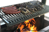 """72"""" x 24"""" STAINLESS DELUXE Dual Crank Drop In Firebox - Santa Maria Grill- Argentine Style - Height Adjustable Rotisserie/Gas Assist"""