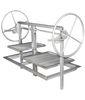 60x24 STAINLESS Dual Crank Drop In Frame Insert - Santa Maria Grill- Argentine Style