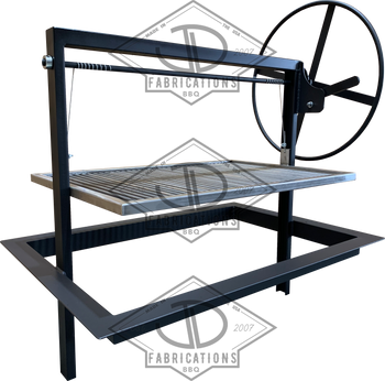 Santa Maria Gaucho Drop In Frame with round rod grate for outdoor kitchen island