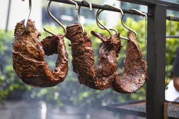 Hang your asado meat off the top of your Santa Maria Argentine Gaucho grill using our custom meat hooks.