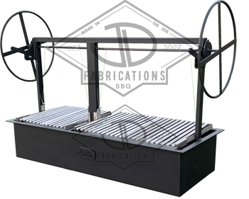 Commercial Argentine BBQ Grills with stainless argentine V channel grates.