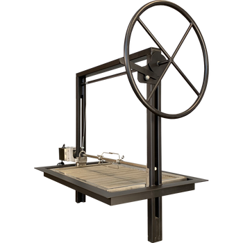 Steel Santa Maria Argentine Drop in Frame with height adjustable rotisserie and argentine V grates