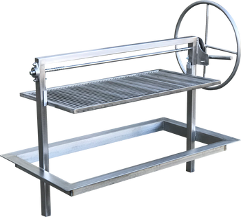 48 inch Stainless Santa Maria Argentine Drop in Frame insert for masonry outdoor kitchen island.